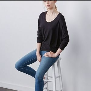 Amour Vert Zoe Black Pullover Shirt Made in USA